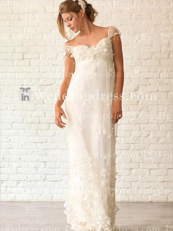 Pinterest for Empire waist beach wedding dress