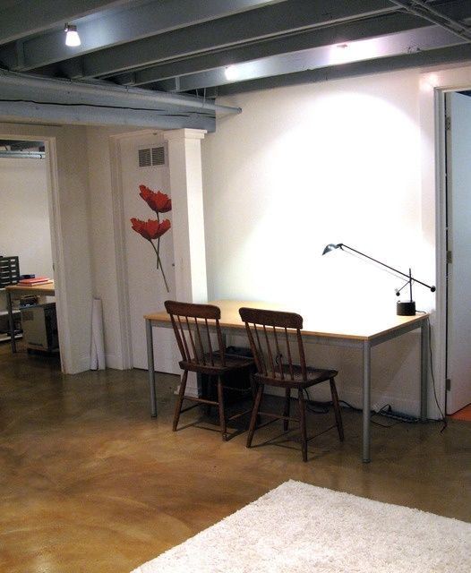 stained concrete basement floor cement floors and walls pinterest
