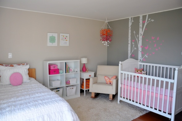 Modern and functional nursery which can double as a guest bedroom