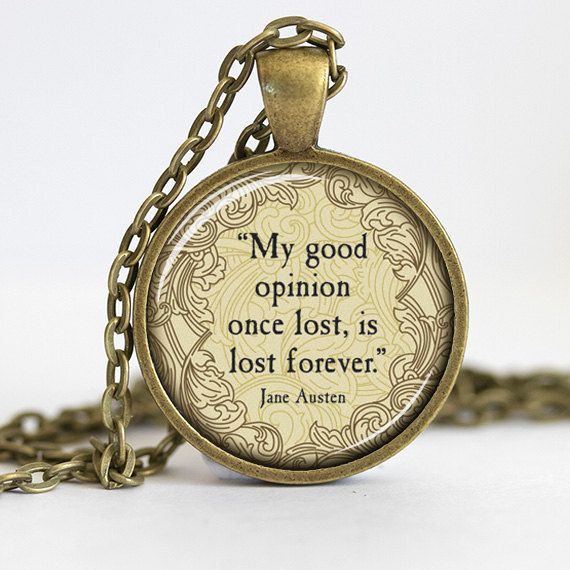 Jane Austen Pride and Prejudice Necklace by 30SomethingDesign, $8.95