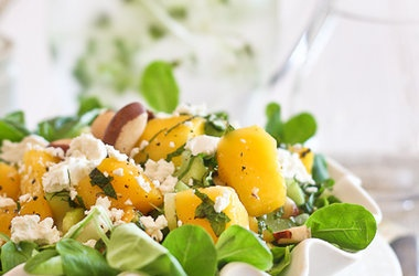 Mango, Celery and Goat Cheese Salad | Salads | Pinterest