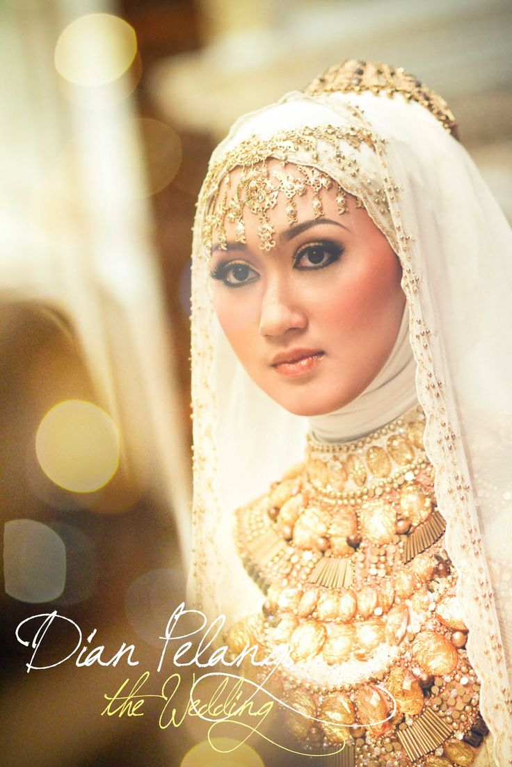 Muslim Wedding Dress Hijabi Bride Pinterest