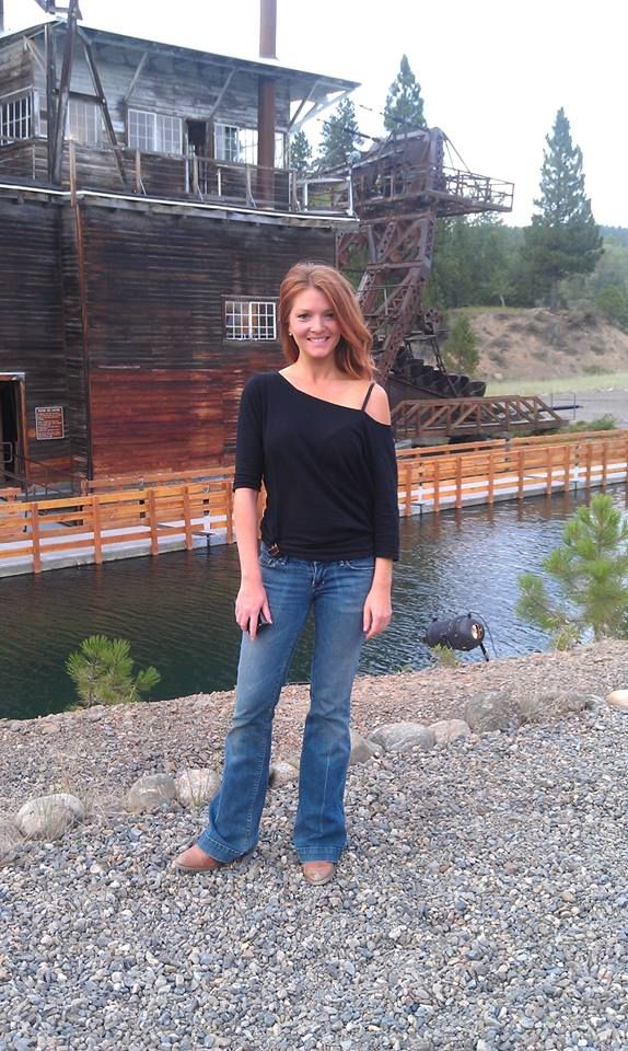 Kristen Luman In Front Of The Dredge Sumpter Oregon Ghost