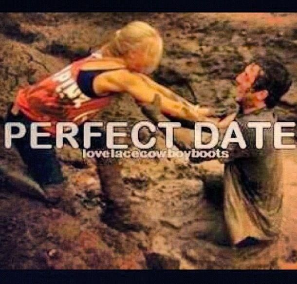Perfect first date?: Mudding