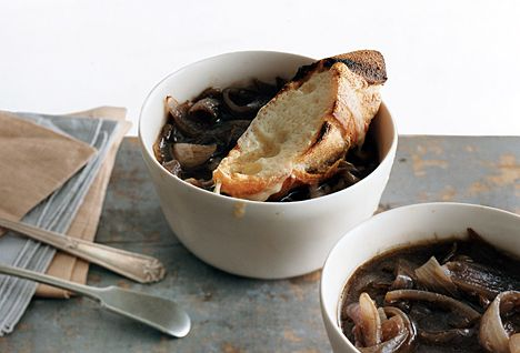 French Red Onion Soup Recipe | Epicurious.com