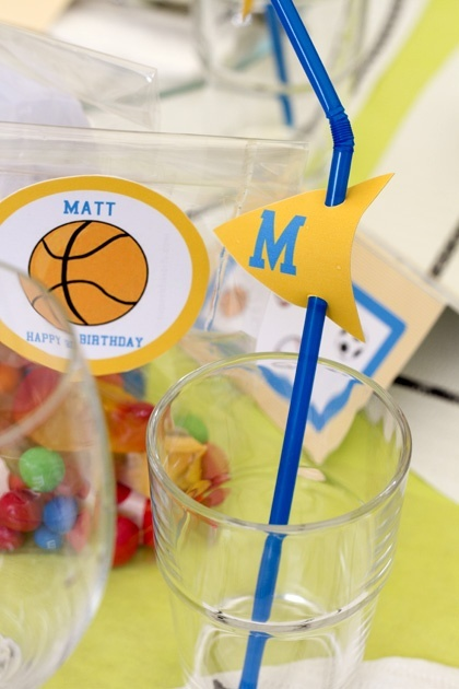 Sports themed crafts pinterest for Athletic banquet decoration ideas