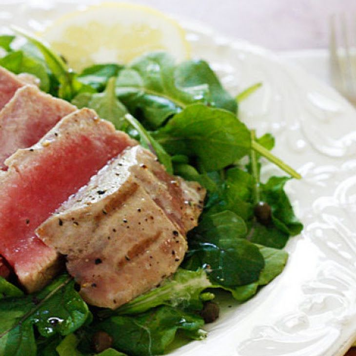 sesame crusted tuna steak on arugula recipes dishmaps sesame crusted ...
