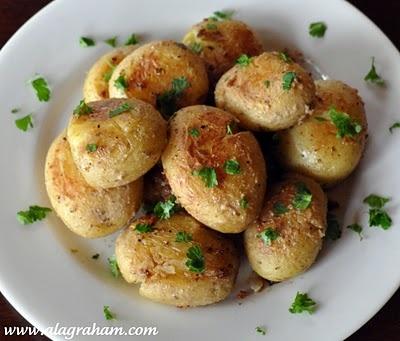 Lori's Skillet Smashed Potato Recipe — Dishmaps