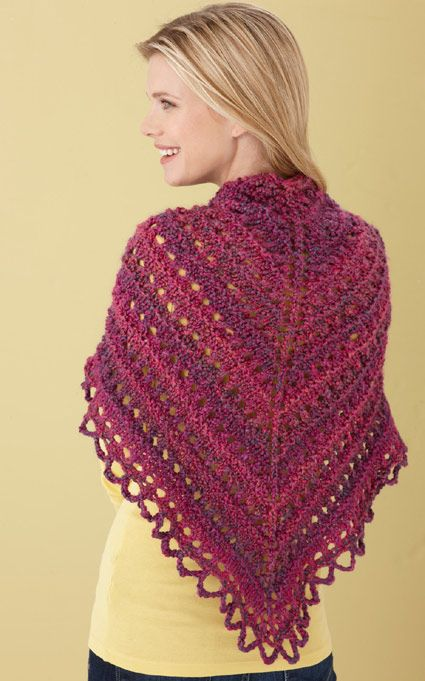 Triangle Shawl Knitting Pattern Free : Splendid Triangle Shawl Knitting Pinterest