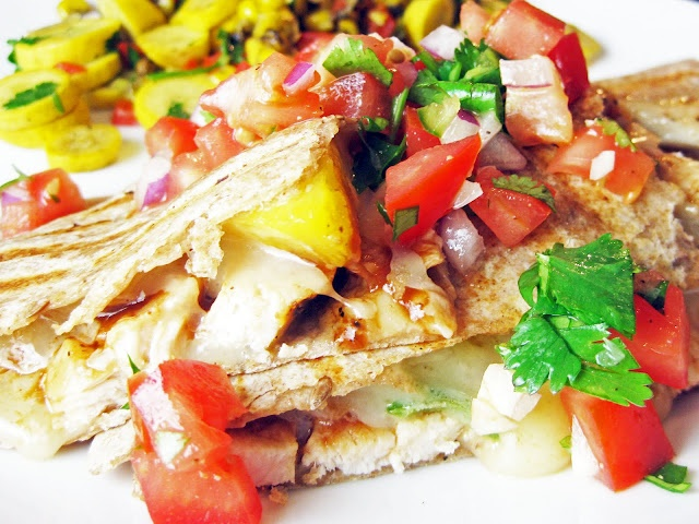 Grilled Pineapple Chicken Quesadillas | Reciepes | Pinterest