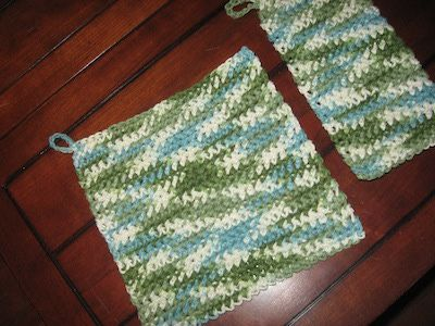 ... Crochet Hot Pads for Bread Bakers - Crochet Pattern for Large Hot Pad