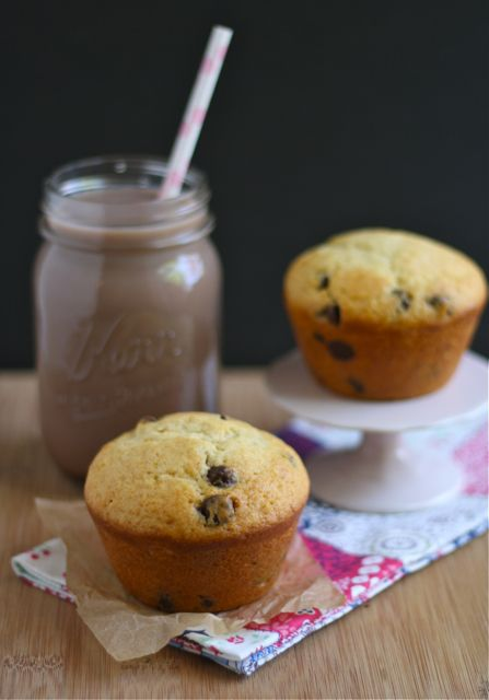 Bakery Style Chocolate Chip Muffins | caleb