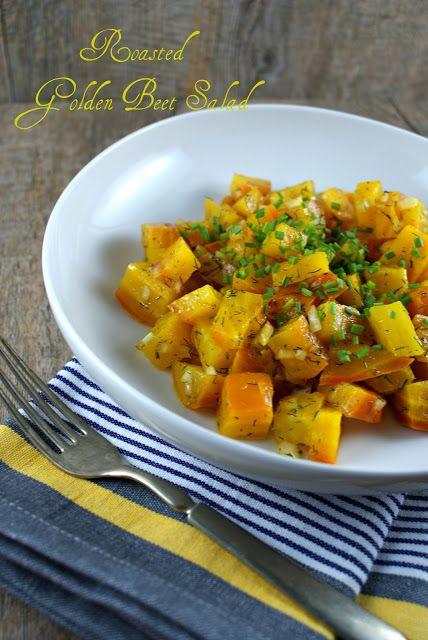 Authentic Suburban Gourmet: Roasted Golden Beet Salad