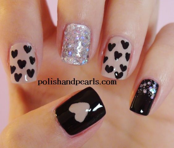 cool valentine nail designs