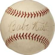 Signed Babe Ruth