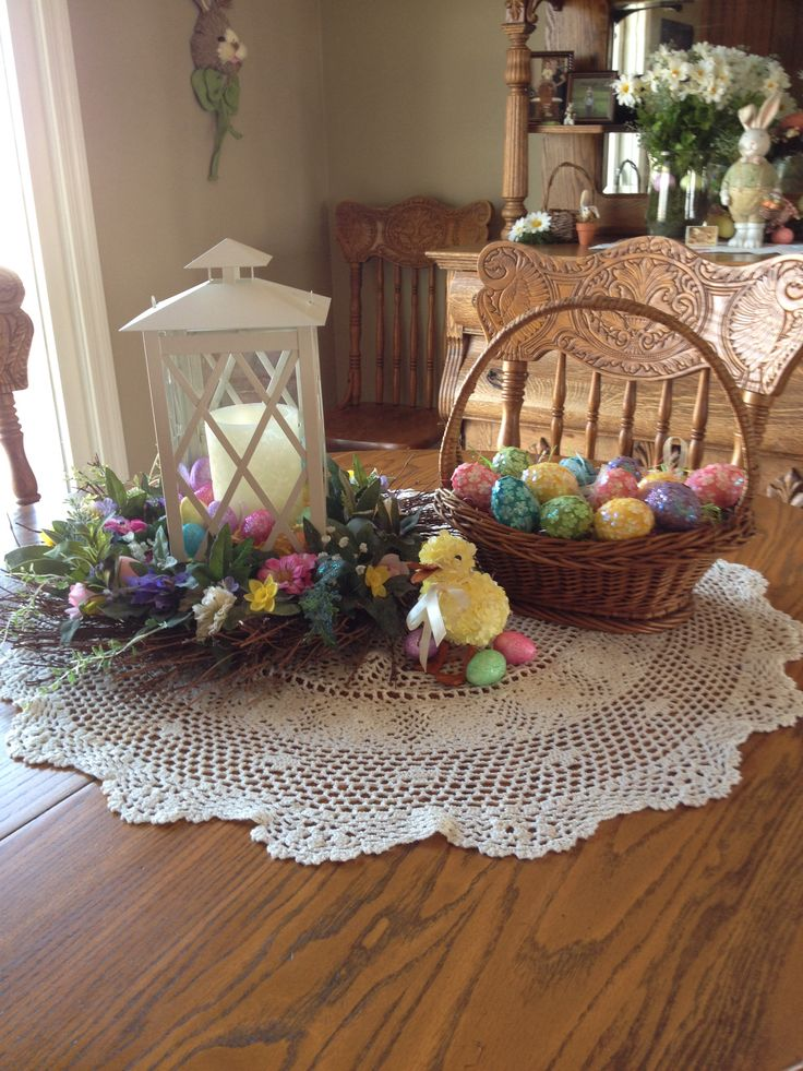 Easter table decorations easter pinterest for Easter decorations for the home pinterest