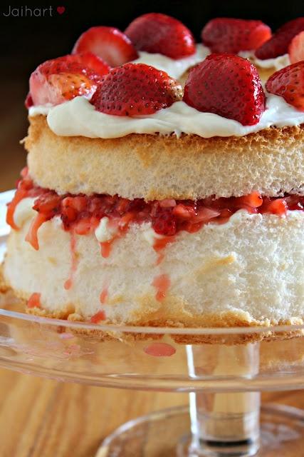 Angel food #Strawberry #Dessert | Strawberry desserts | Pinterest