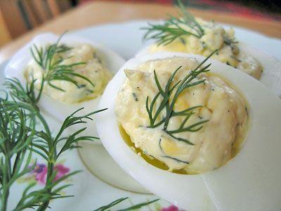 Lemon-Dill Deviled Eggs   Deviled Eggs   Pinterest
