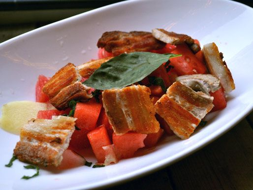 Pork Belly Watermelon Salad is a must, with its generous helping of ...