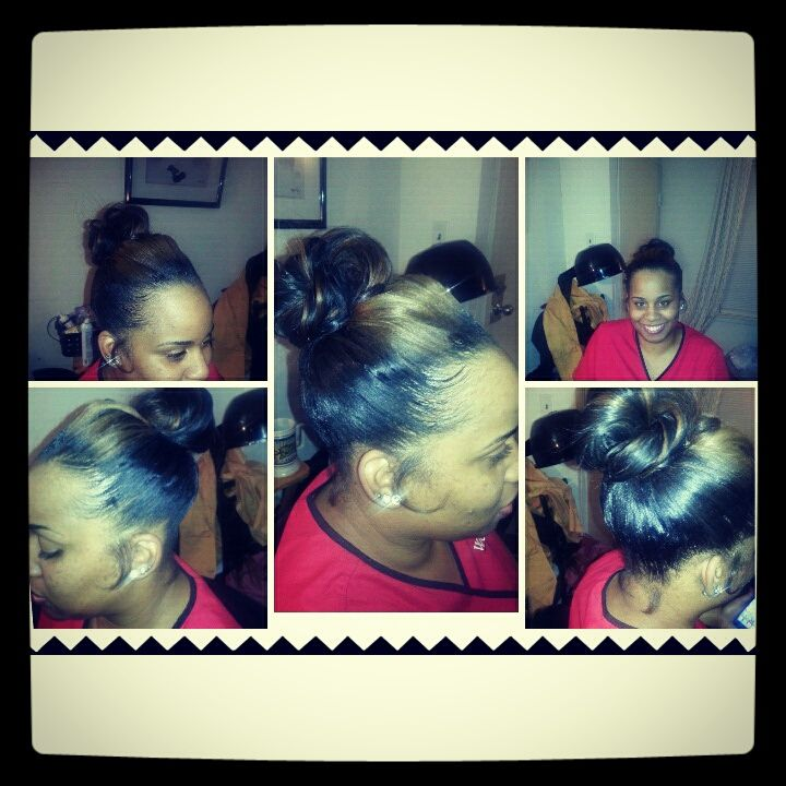 Sew in Natural Ponytail | Hair | Pinterest
