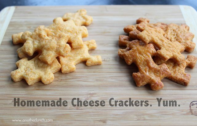 homemade cheese crackers | Recipes I Should Try | Pinterest