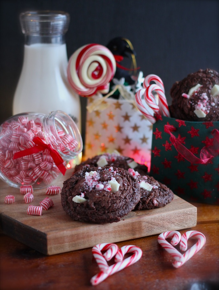 Double Chocolate Peppermint Cookies | Candy Canes, Egg Nog, and more ...