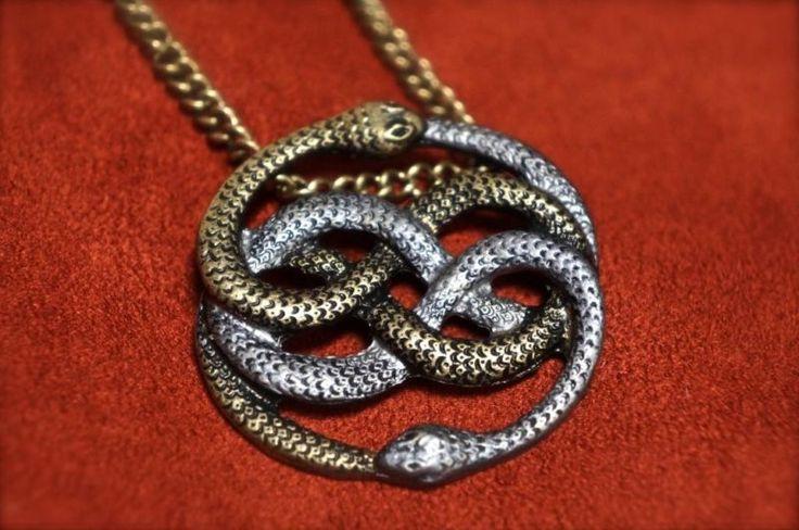 neverending story auryn pendant silver and gold atreyu