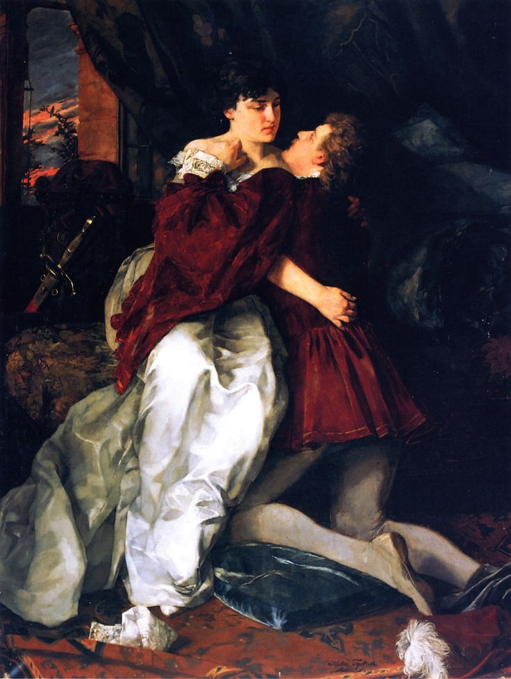 Romeo and Juliet - 1879- Wilhelm Trubner (german painter)