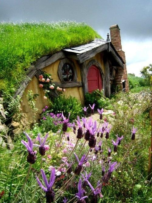 Hobbit house rotorua new zealand wow pinterest for Hobbit house images