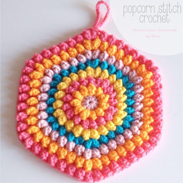 Popcorn stitch crochet T?? i?i Pinterest