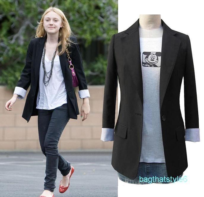 Celebrity Womens Long Sleeve Casual Suits Jacket COAT Top Blazer