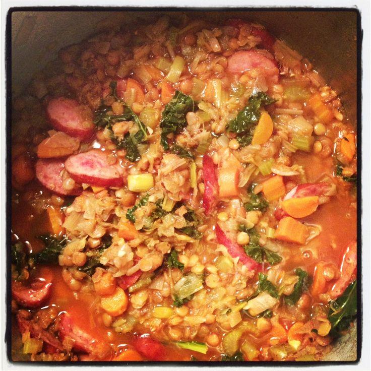 Sausage & Lentil Stew | Work it out | Pinterest