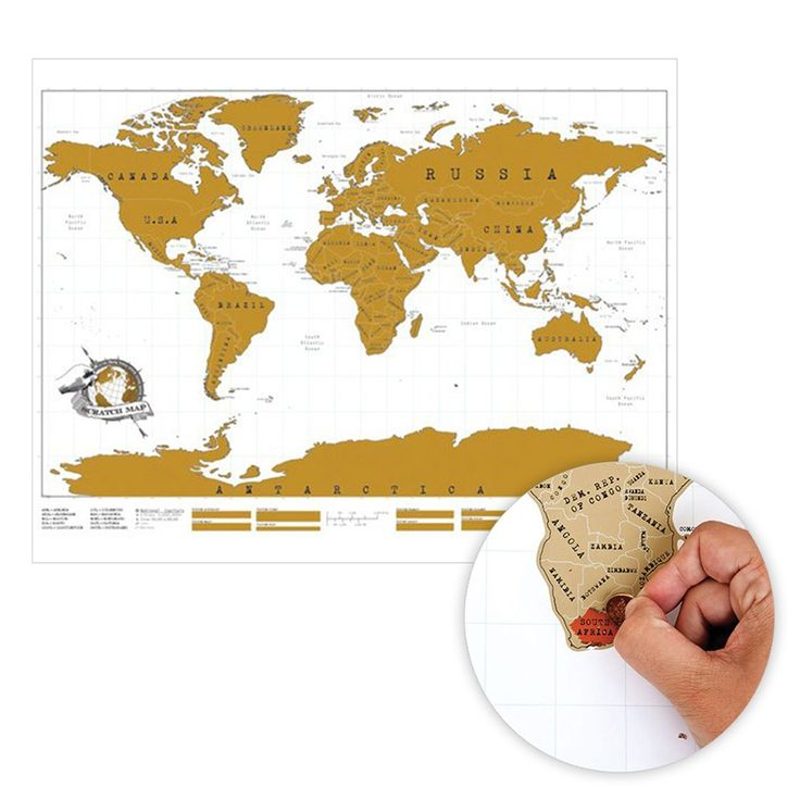 World Map With Scratch Off Countries So You Can Mark Where