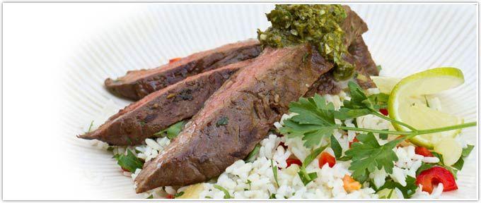 Herb-Marinated Skirt Steak With Gremolata