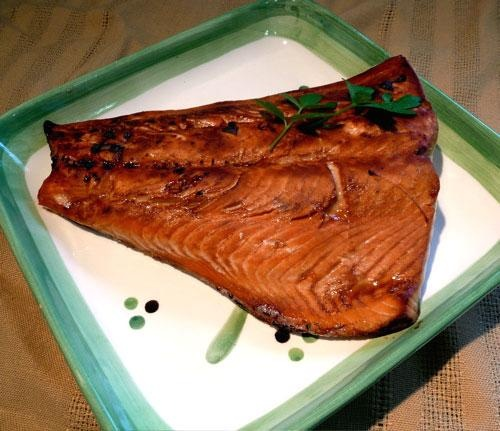 Honey-Ginger Grilled Salmon - Mmmm supper tonight :)