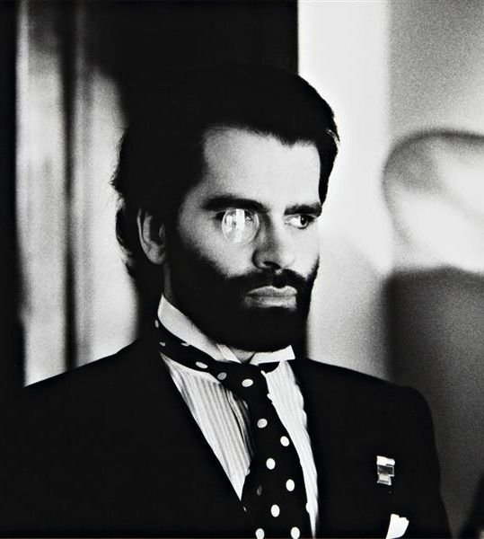 Karl Lagerfeld, photographed by Helmut Newton