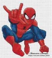 Схема вышивки человек паука