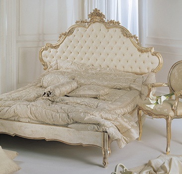 Classic beds can be made contemporary with antique silver leaf instead ...