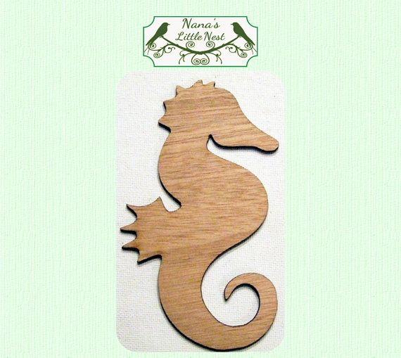 Sea Horse Wood Cut Out Laser Cut