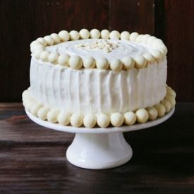 everything cake: white butter cake layered between white chocolate ...