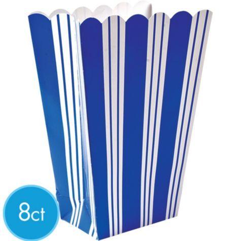 Blue Striped Popcorn Boxes 8ct