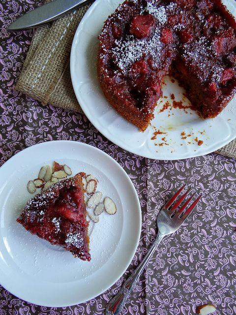 strawberry almond breakfast cake- gluten free and vegan / polenta can ...