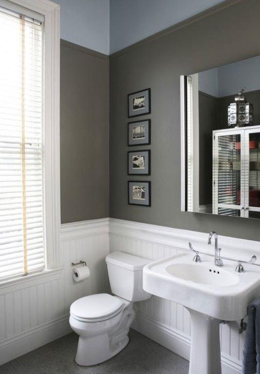Wainscoting bathroom bathroom ideas pinterest for Wainscoting bathroom ideas pictures