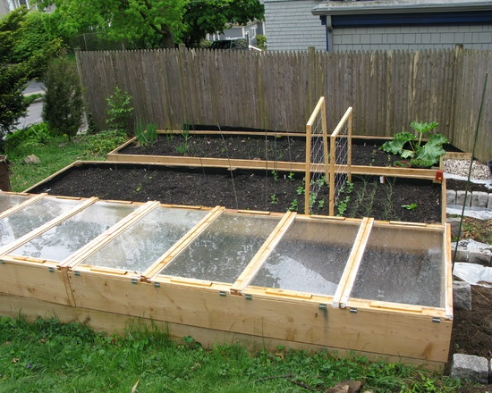 Raised Beds And Greenhouses Outside Pinterest