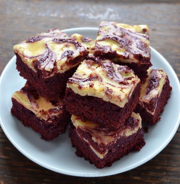 Red Velvet Cheesecake Swirl Brownies | Recipe