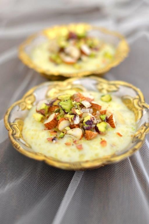 ... and Comforting: Kheer (Indian Rice Pudding with Saffron and Nuts