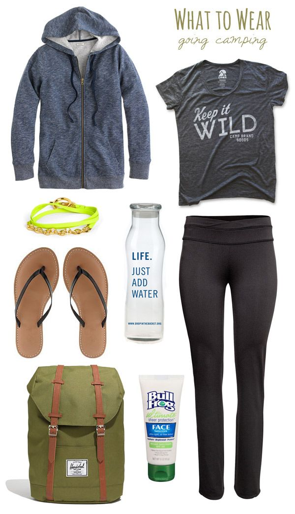 What To Wear: Going Camping. bc a cute outfit just might make you forget you haven't showered in five days.