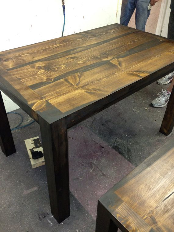 Colorado beetle kill kitchen table with bench 48 long x 36 for Dining room table 36 x 48