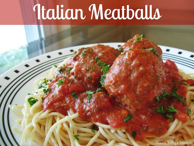 Italian Meatballs! | Food | Pinterest