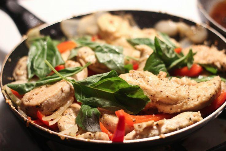 Chicken and Basil Stir-Fry | Dinner is served | Pinterest